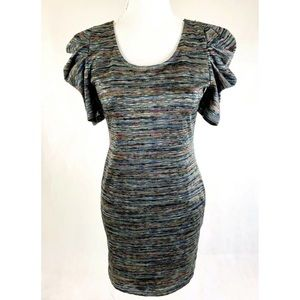 FOREVER 21 Silver Multi-Color Stretch Dress